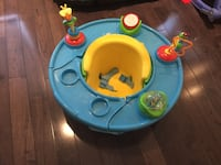 baby's blue and green activity saucer Laval, H7C 2N1