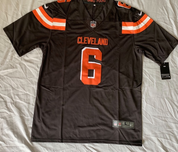 low cost 00fae 6f248 New Browns Baker Mayfield Nike Jersey (Stitch)