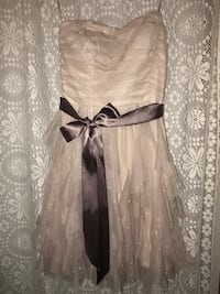 NEW!!! Cream, Sparkley Prom Dress — Size 7
