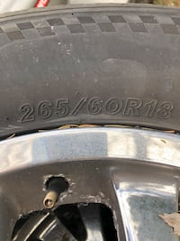 chrome 5-spoke vehicle wheel and tire Morristown, 07960
