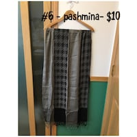 women's gray and black houndstooth scarf Calgary, T2P 2Y9