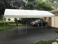 Backyard canopy, party tent, yard cover - 10'W x 20'L x 8'H  Rolling Meadows, 60008