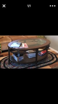 Make Offers Glass Top Coffee Table