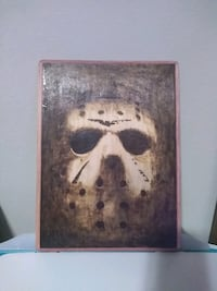 Jason Voorhees wood burned picture. Friday the 13th.