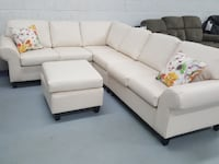 modern Canadian made sectional on clearance