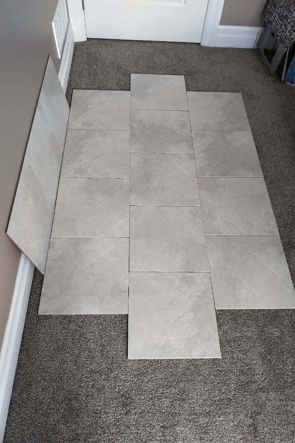 Brand New 13 x 13 White Porcelain Tiles  5
