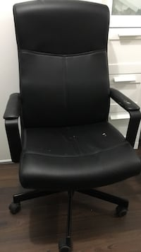 SALE black office rotating chair with wheels leather 552 km