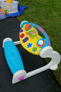 baby's white and blue activity walker Bristow, 20136
