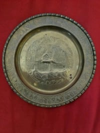 Vintage hand made engraved metal wall decor Centreville, 20120