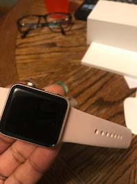 Series 3 Apple Watch box opened never used, comes with Zagg lifetime warranty screen protector, 38mm, Rose gold, price is negotiable Milwaukee, 53209