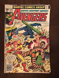 Vintage the avengers number 163 September 1977 marvel the back page has a small tear good condition Brazoria, 77422
