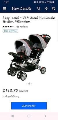 Baby trend sit and stand double stroller  Norfolk, 23518