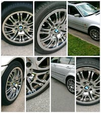 "Bmw 5z120 17"" chrome rims Rockville, 20850"
