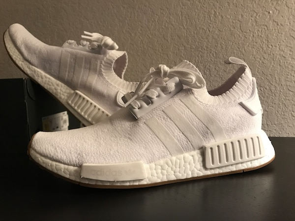 f9dafe1cc Used Adidas nmd r1 pk gum bottoms (white) for sale in Cupertino - letgo