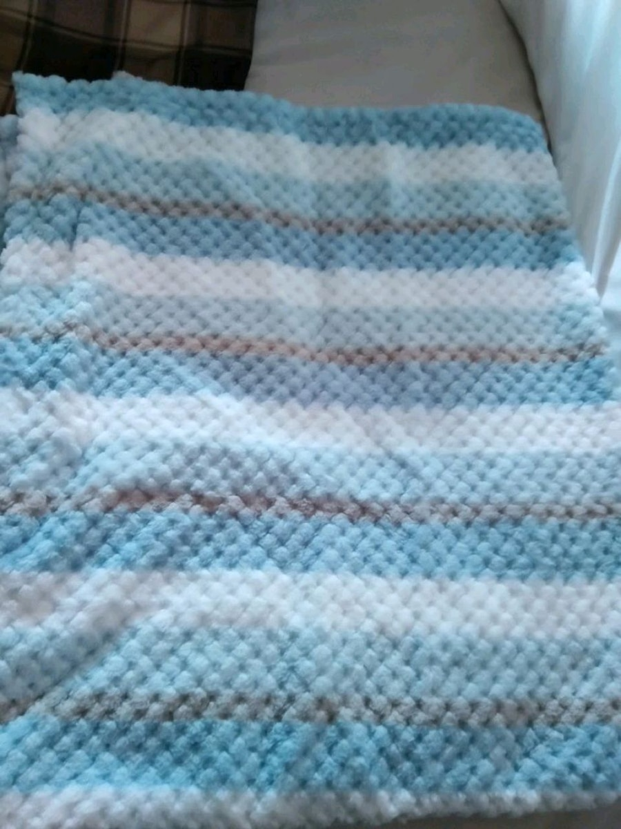 Photo New Baby blue blanket