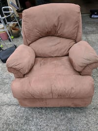 brown suede recliner sofa chair Everett, 98208