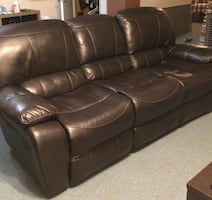 Lazy boy style leather sectional