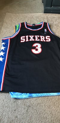 Black, blue and red philadelphia sixers 3 allen iverson jersey shirt Knoxville, 37917
