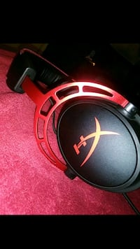 black and red corded headphones Dallas, 75217