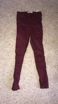 hollister maroon jeggings Carolina Beach, 28428