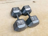 70 Pound Dumbbells - Weight Lifting - Bench Press - Fitness - Gym Equipment - Training - Plates Hinsdale