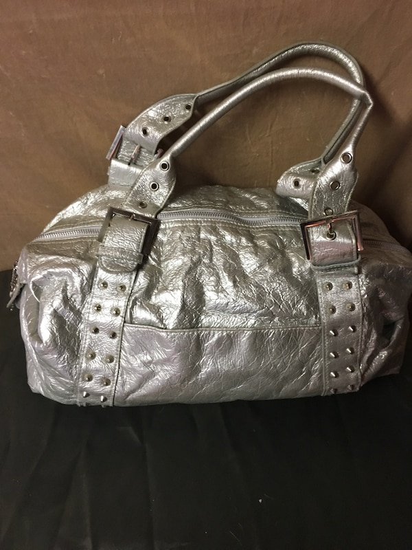 16aaee85c264 Used silver-colored leather tote bag for sale in Belleville - letgo