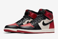 Air Jordan 1 High OG Retro Bred Toe Zeytinburnu, 34020