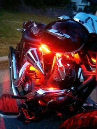 red and black sports bike Division No. 8, T4S 2B4
