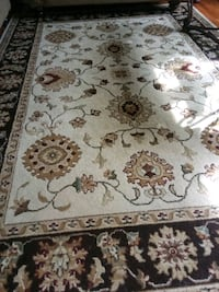 white and brown floral area rug Union Beach, 07735