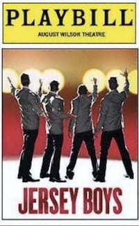 Jersey Boys Musical Playbill Simpsonville
