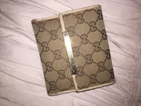 Monogrammed brown gucci leather wallet used Deerfield Beach, 33442