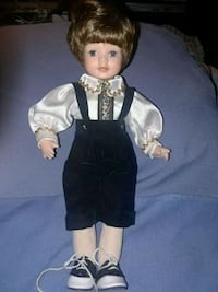 Ceramic doll real hair and eye lashes one foot tal San Diego, 92110