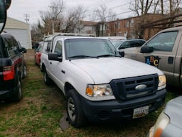 White Ford single cab pickup truck, 28k miles