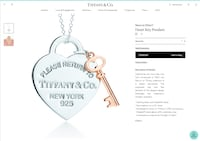 Tiffany & Co. Necklace / Heart Key Pendant with chain Newmarket, L3X 0G9