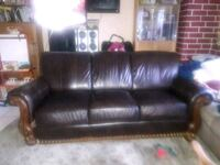 brown leather 3-seat sofa Tustin, 92780