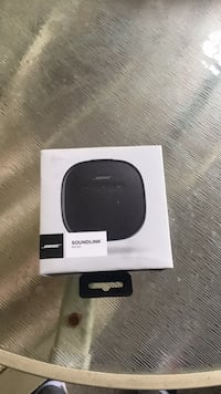 black and white Bose portable speaker New Westminster, V3M 6W9