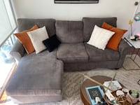 Gray sectional (reversable chaise!)