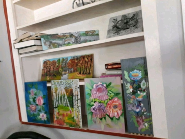Floral Hand made Acrylic Paintings