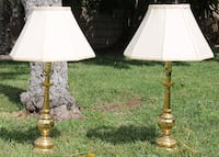 Large Brass Table Lamps -- Set of 2 Santa Clarita, 91355