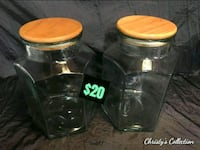 two clear glass mason jars Central Point, 97502