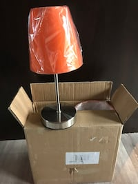 Brown and white table lamp 572 km