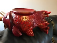"Gold fish in wood 15"" long, use like candle holder Ogden, 84404"