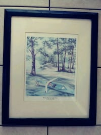 Picture ..PLEASURE ISLAND on LANGLEY POND.signed an numbered. Myrtle Beach, 29577