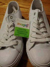 Solid White Canvas Shoes