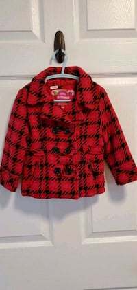 24 months red and black button up jacket Oshawa, L1H 8K4