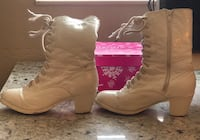 Leather dance boots size 10 girls white Manteca, 95336
