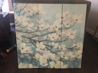 white and blue floral painting Jacksonville, 32224