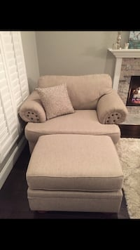 Large sofa chair with ottoman