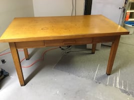 Mid century table with drawer