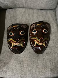 Hand carved in Mexico masks wall hangers Alexandria, 22311
